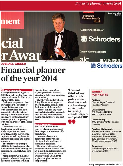 Money Management's annual awards for best in business 2014